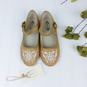 Joyfolie Brielle Embroidered Woven Mary Janes Y3